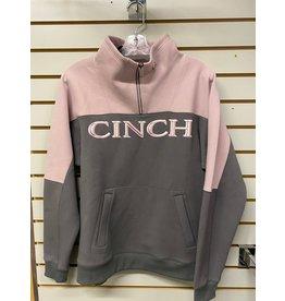 Cinch LADIES MAK7867002 PINK/GREY PULLOVER CINCH
