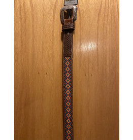 NOCONA KIDS BROWN BELT WITH HAND STITCHING