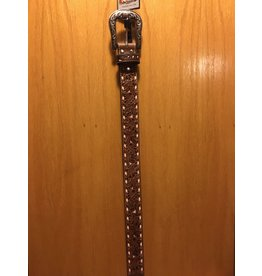 NOCANA LADIES HAND CARVED WITH NATURAL STITCHING BELT