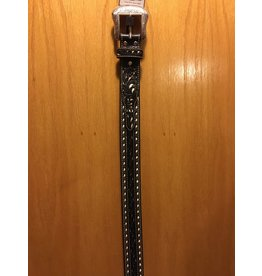 Bezjack NOCONA MEN'S BLACK/GREY WITH WHITE STITCHING BELT