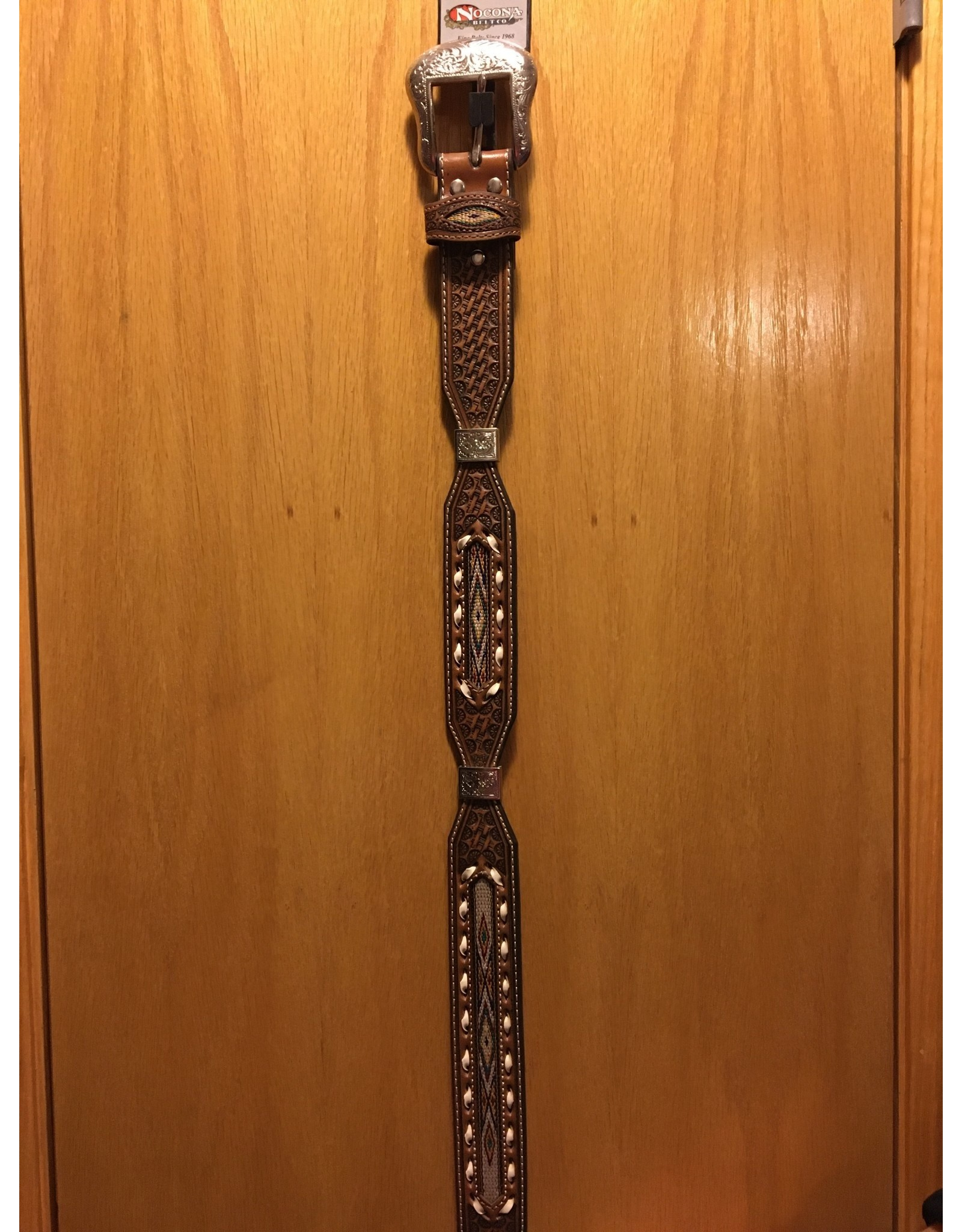 NOCONA MEN'S TOOLED AND LACED BELT