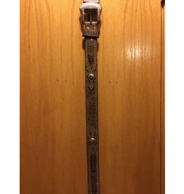 Bezjack NOCONA MEN'S LEATHER BRAIDED ACCENT BELT