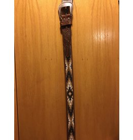 Bezjack NOCONA MEN'S HAND BEADED GOLD/BROWN/BLACK BELT