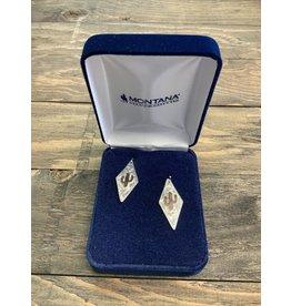 MONTANA SILVERSMITHS MONTANA SILVERSMITH TWO TONE DIAMOND CACTUS EARRINGS