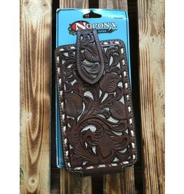 NOCONA BROWN LACED EDGE CELL PHONE CASE