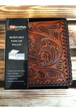 NOCONA N5480644 REMOVABLE PASSCASE LEATHER WALLET