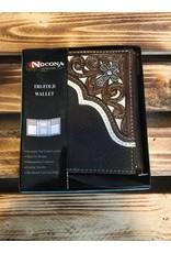 NOCONA N500003102 PIERCED CORNER CROSS LEATHER WALLET