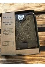 ARIAT BI-FOLD BOOT STITCH MONEY CLIP