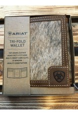 ARIAT TRI-FOLD CALF HAIR INLAY LEATHER WALLET