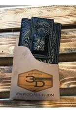 3D BI-FOLD BLACK FLORAL MONEY CLIP