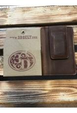 3D BI-FOLD BROWN DISTRESSED MONEY CLIP