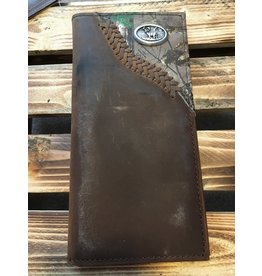 3D BADGER RODEO CAMO INLAY LEATHER WALLET