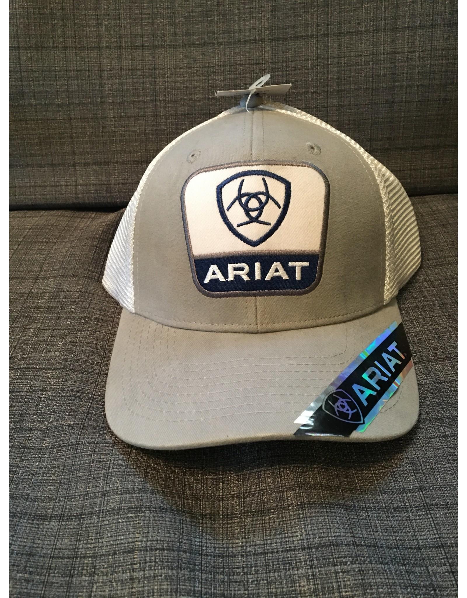 ARIAT LOGO GREY MEN'S BALL CAP