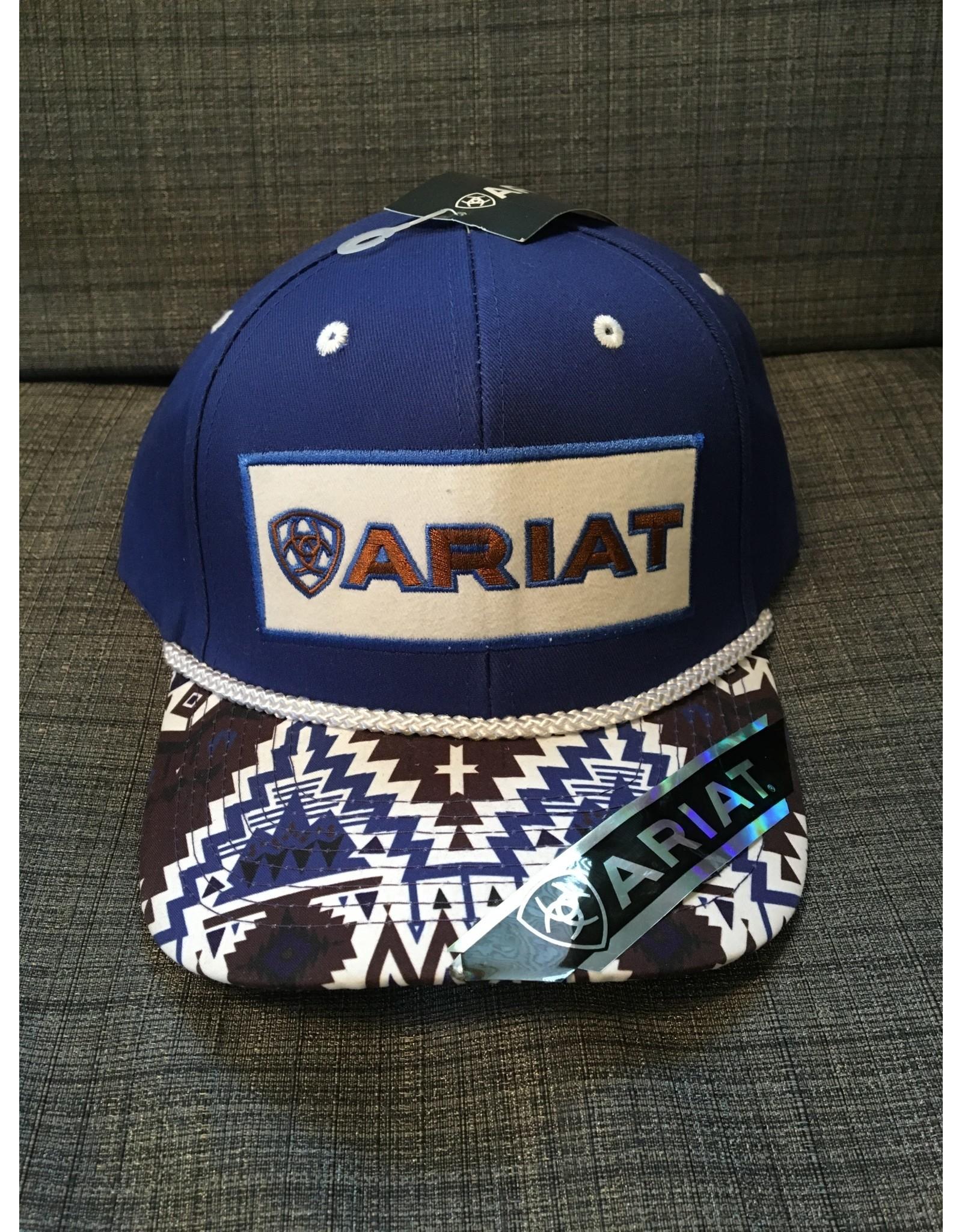 ARIAT AZTEC PRINT BLUE MEN'S BALL CAP