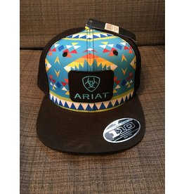 ARIAT AZTEC WITH BLACK PATCH MEN'S BALL CAP