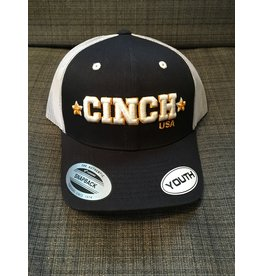 CINCH BLACK WITH EMBROIDERED CINCH LOGO YOUTH BALL CAP