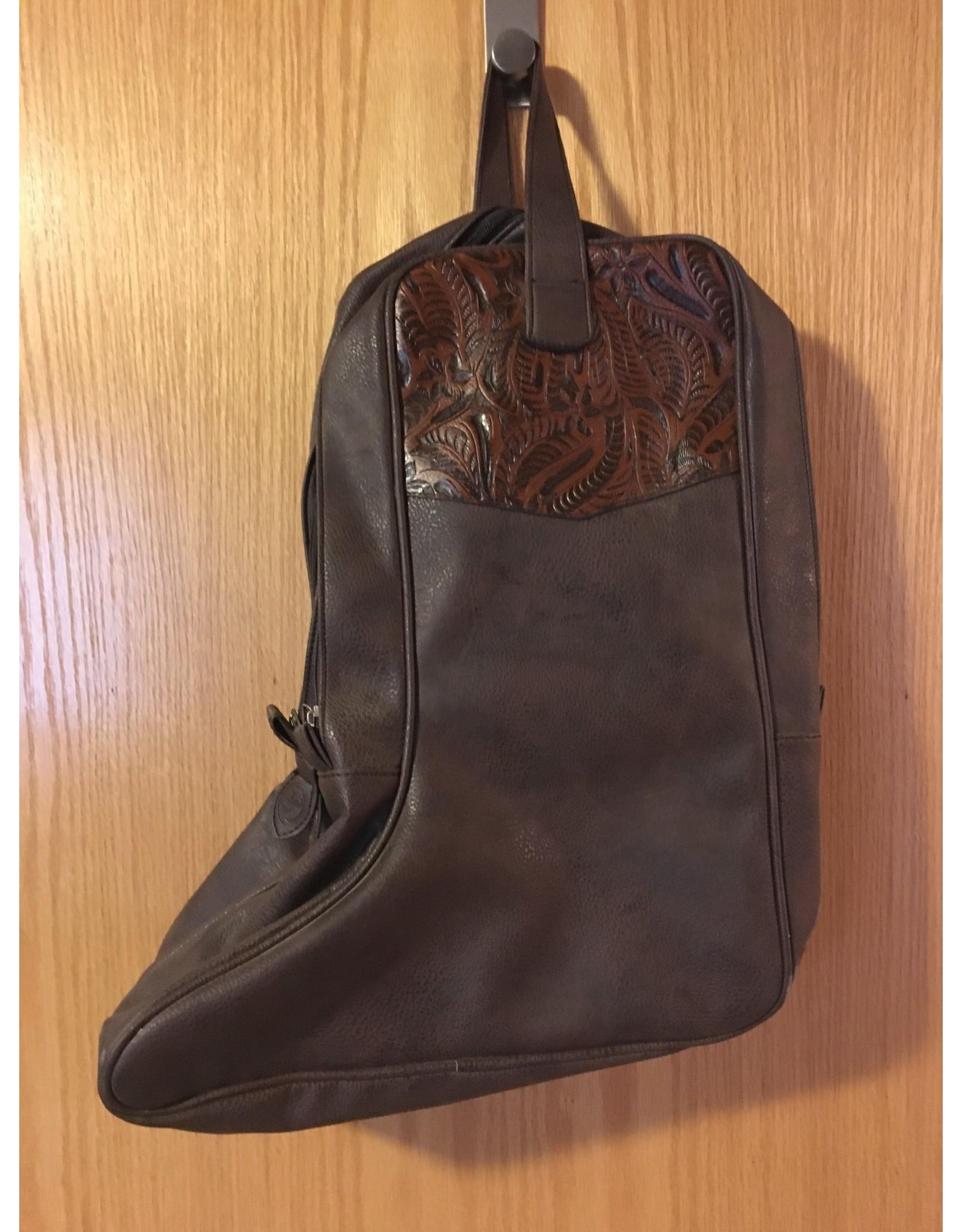 3D BROWN BOOT BAG