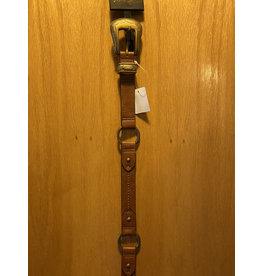 CATCHFLY LADIES BROWN WITH ANTIBRASS RINGS & BUCKLE BELT