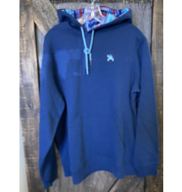 Hooey ROUGHY MEN'S HEATHER NAVY HOODY WITH MULTI COLOR PATTERN