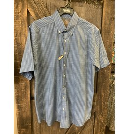 Panhandle MEN'S PANHANDLE BLUE WITH WHITE DESIGNS SS SHIRT