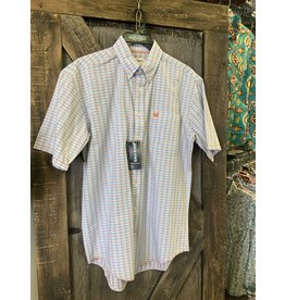 Panhandle MEN'S PANHANDLE PALE BLUE CHECKED SS SHIRT