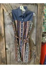 LADIES TODAY COTTON DRESS W/BELT