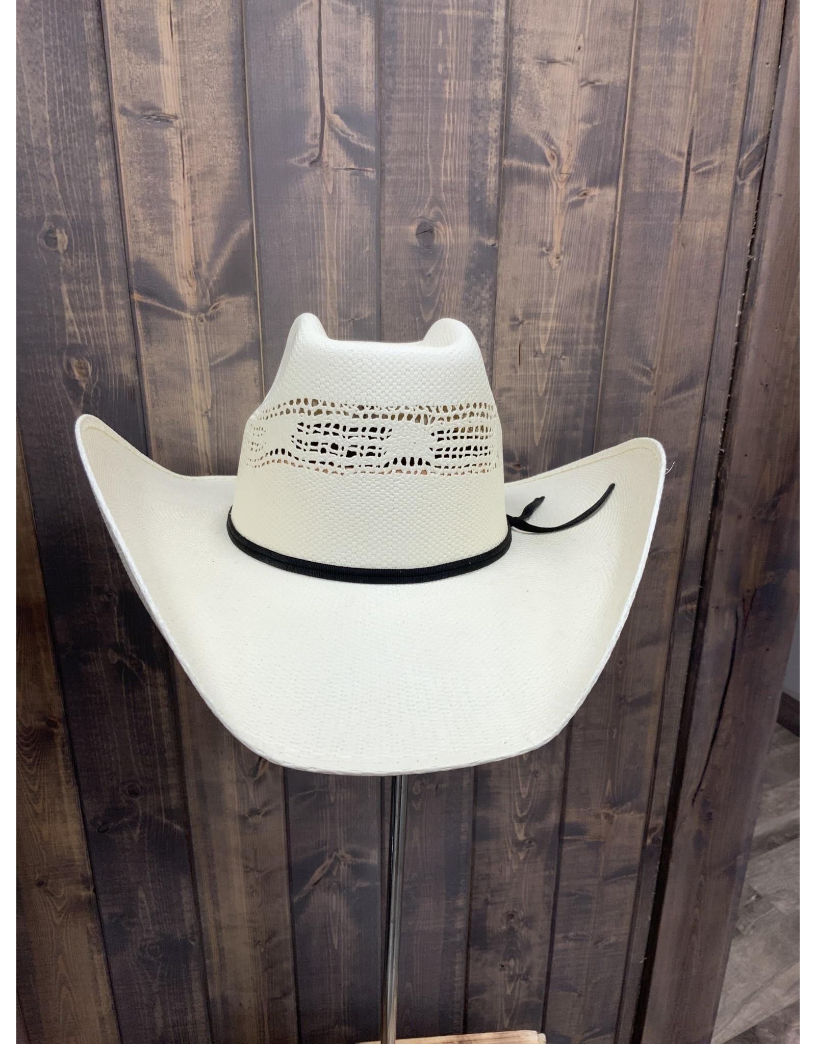 8 SEC BANGORA STRAW COWBOY HAT