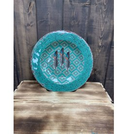 HiEnd Accents MELAMINE FEATHER SALAD PLATE