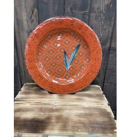 HiEnd Accents MELAMINE FEATHER DINNER PLATE