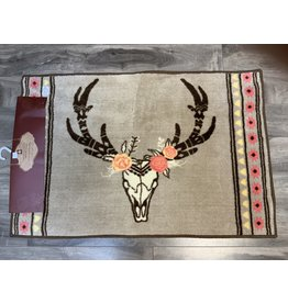 HiEnd Accents SKULL/FLORAL PRINTED RUG