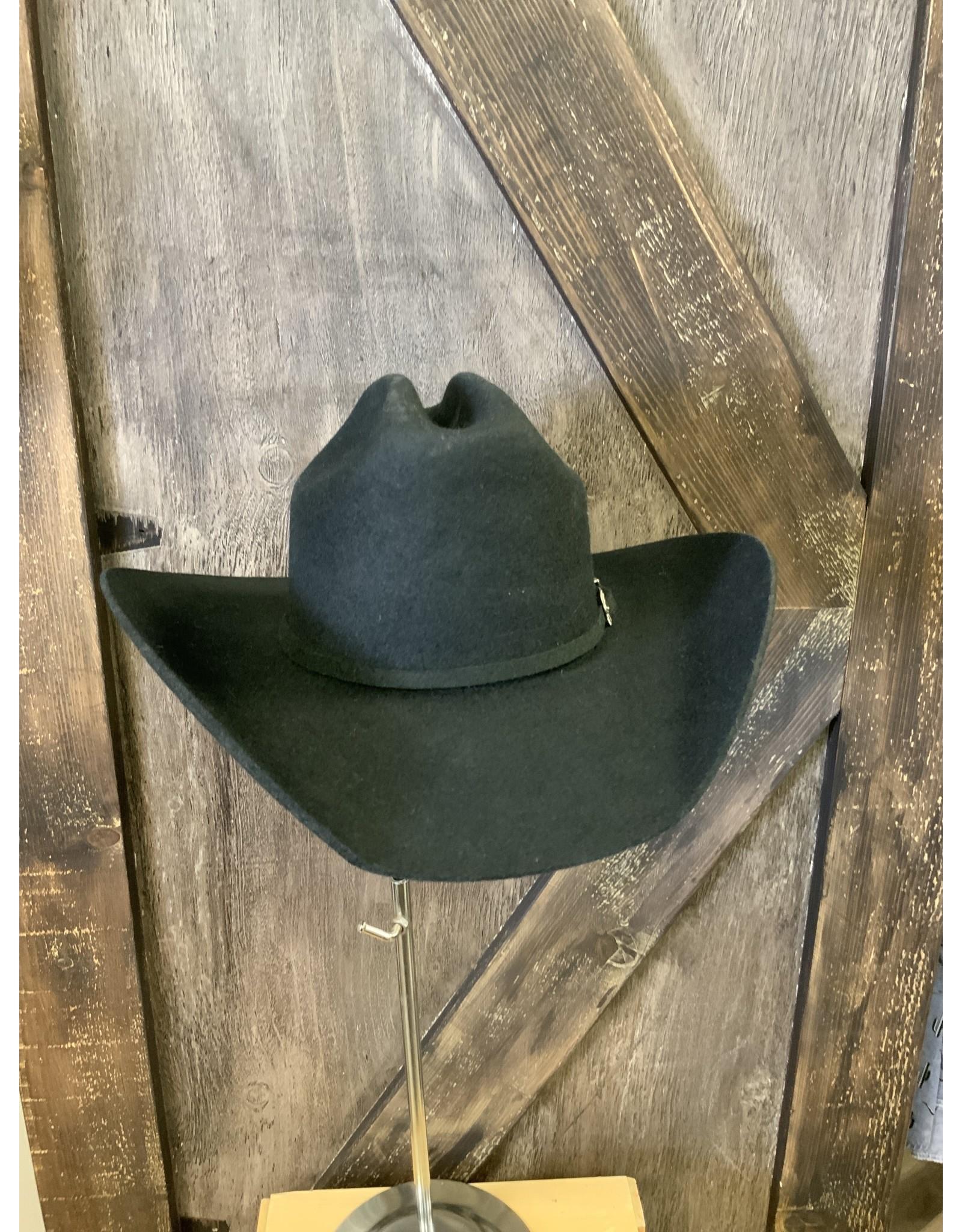 Black 5X Wool Hat 6 5/8
