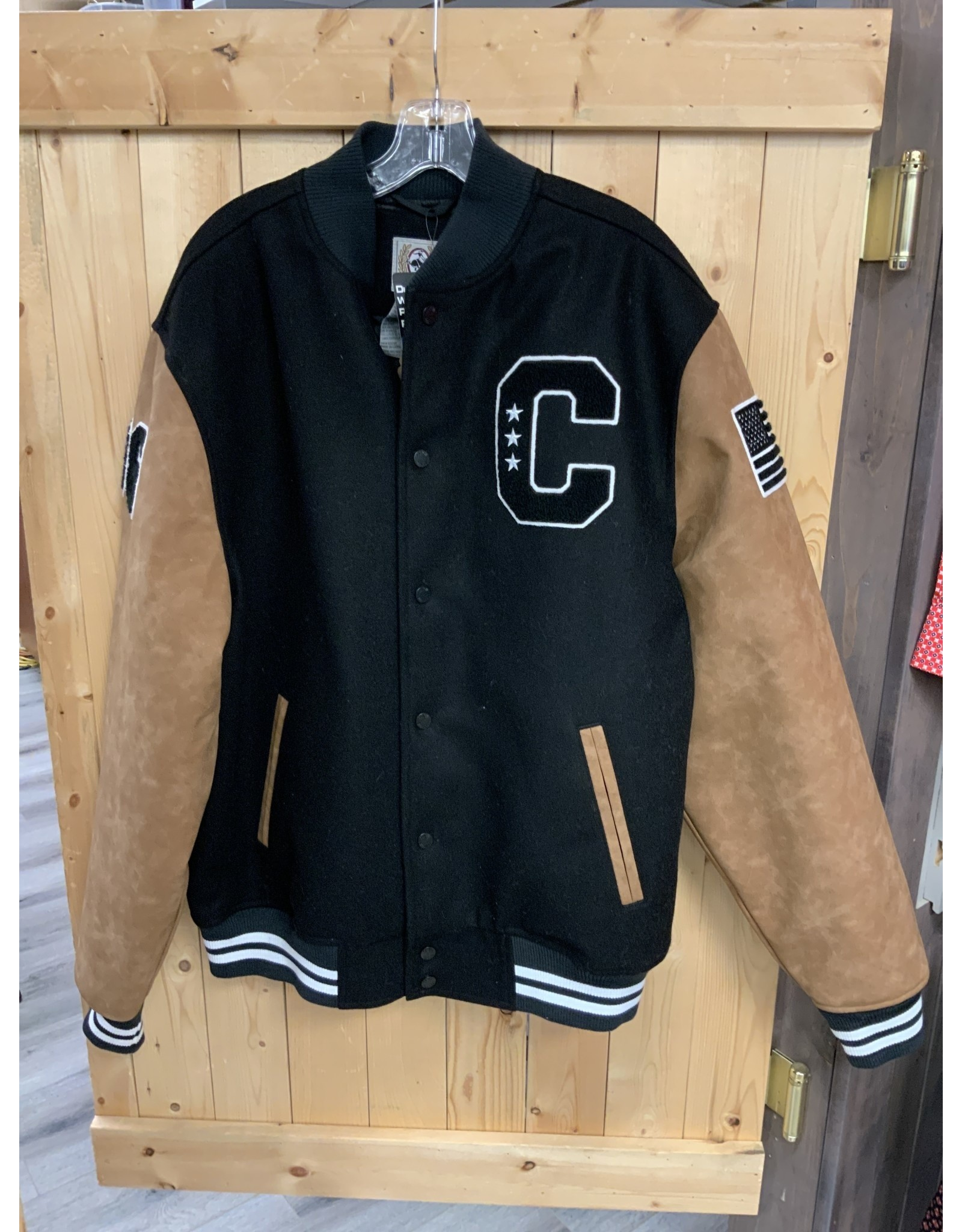 CINCH SNAP BUTTON RETRO JACKET WITH LOGO ON BACK