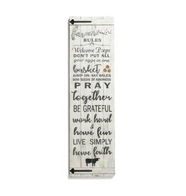 FARMOUSE RULES WHITE WALL PLAQUE