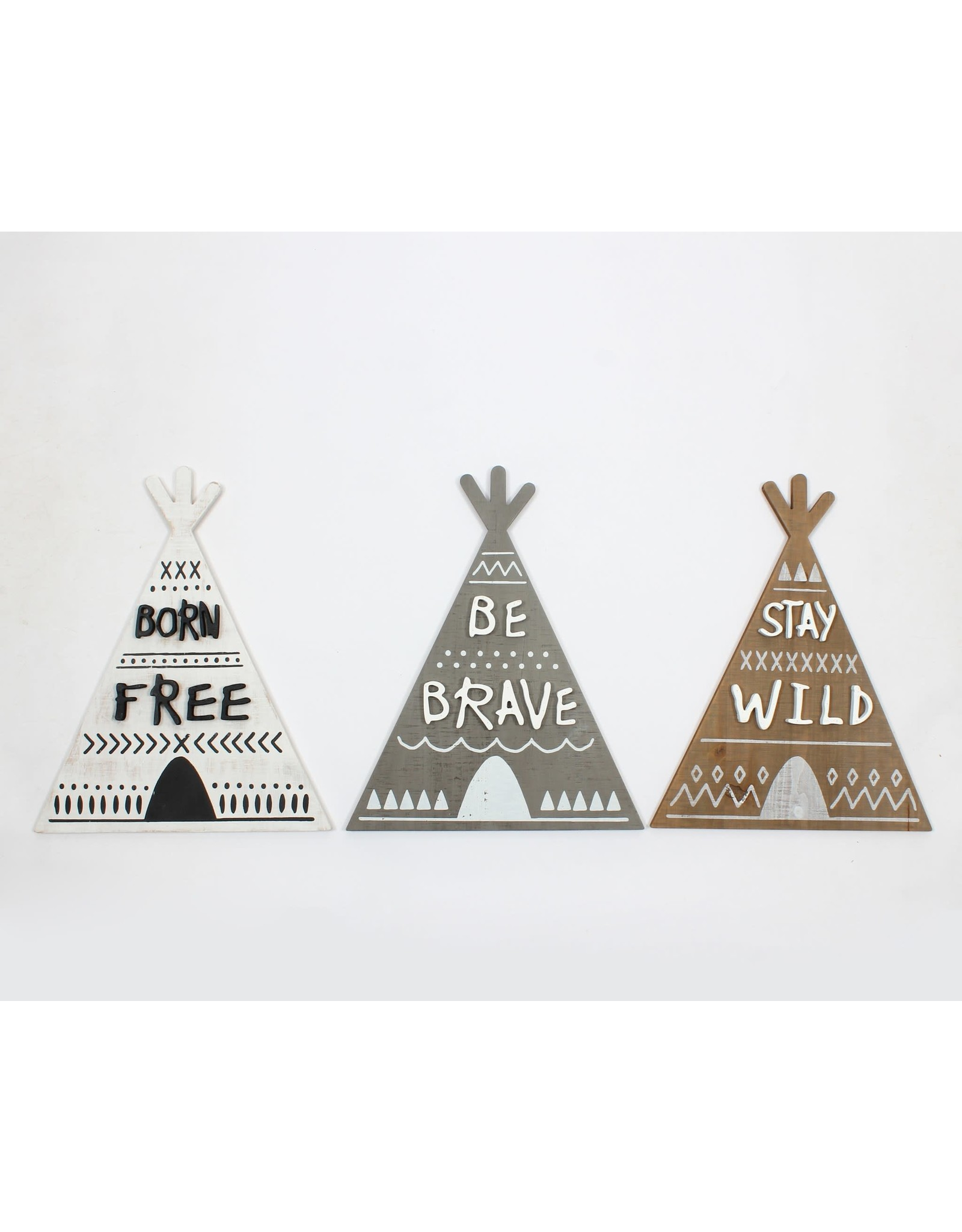 BORN FREE /BE BRAVE/STAY WILD WALL DECOR
