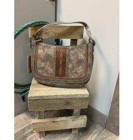 JUSTIN HOBO BAG WEATHERED TOOLING