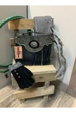 JUSTIN SHOULDER BAG GRAPHITE W/BLACK FRINGE