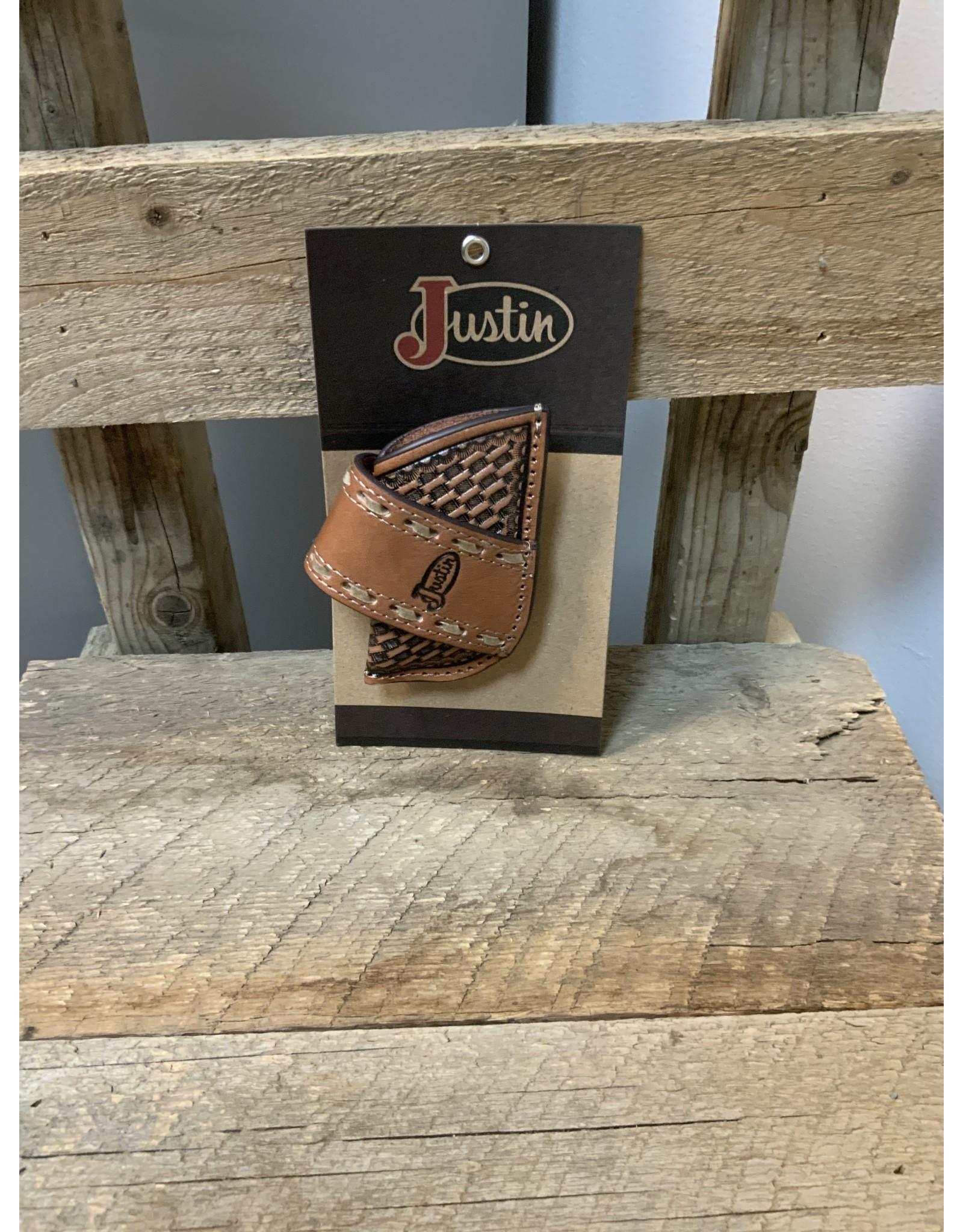 JUSTIN KNIFE SHEATH BASKETWEAVE TOOLING