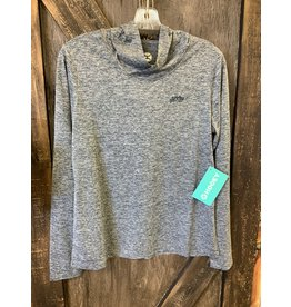 LADIES LIGHT WEIGHT EASEY BREEZY HEATHER NAVY PULLOVER
