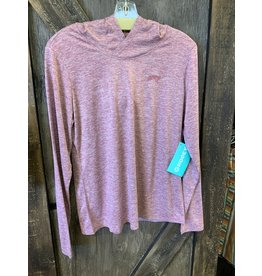 LADIES LIGHT WEIGHT EASEY BREEZY HEATHER MAROON PULLOVER