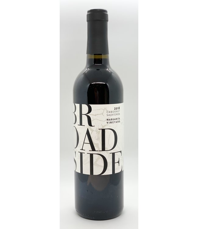 BROADSIDE CABERNET SAUVIGNON MARGARITA VINEYARD  2018 750ML