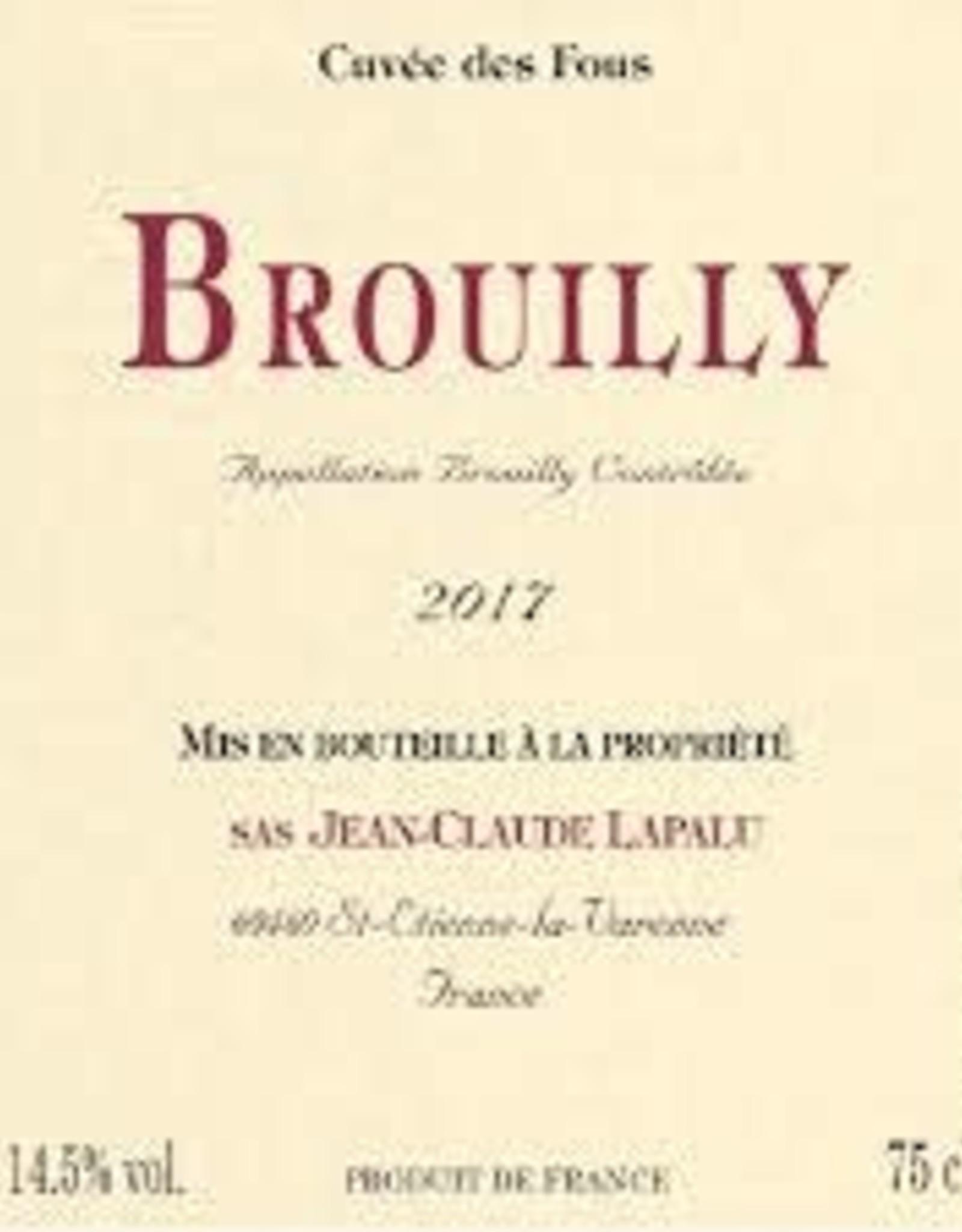 BEAUJOLAIS Brouilly, Clos des Fous, Lapalu 2017