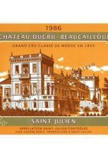 Bordeaux, Saint-Julien (2eme), Ducru-Beaucaillou 1986