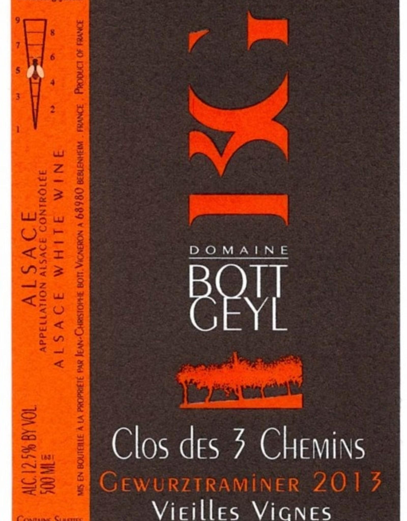 """Gewurztraminer, """"3 Chemins"""", Alsace, Bott-Geyl, 2013 (500 ml)"""