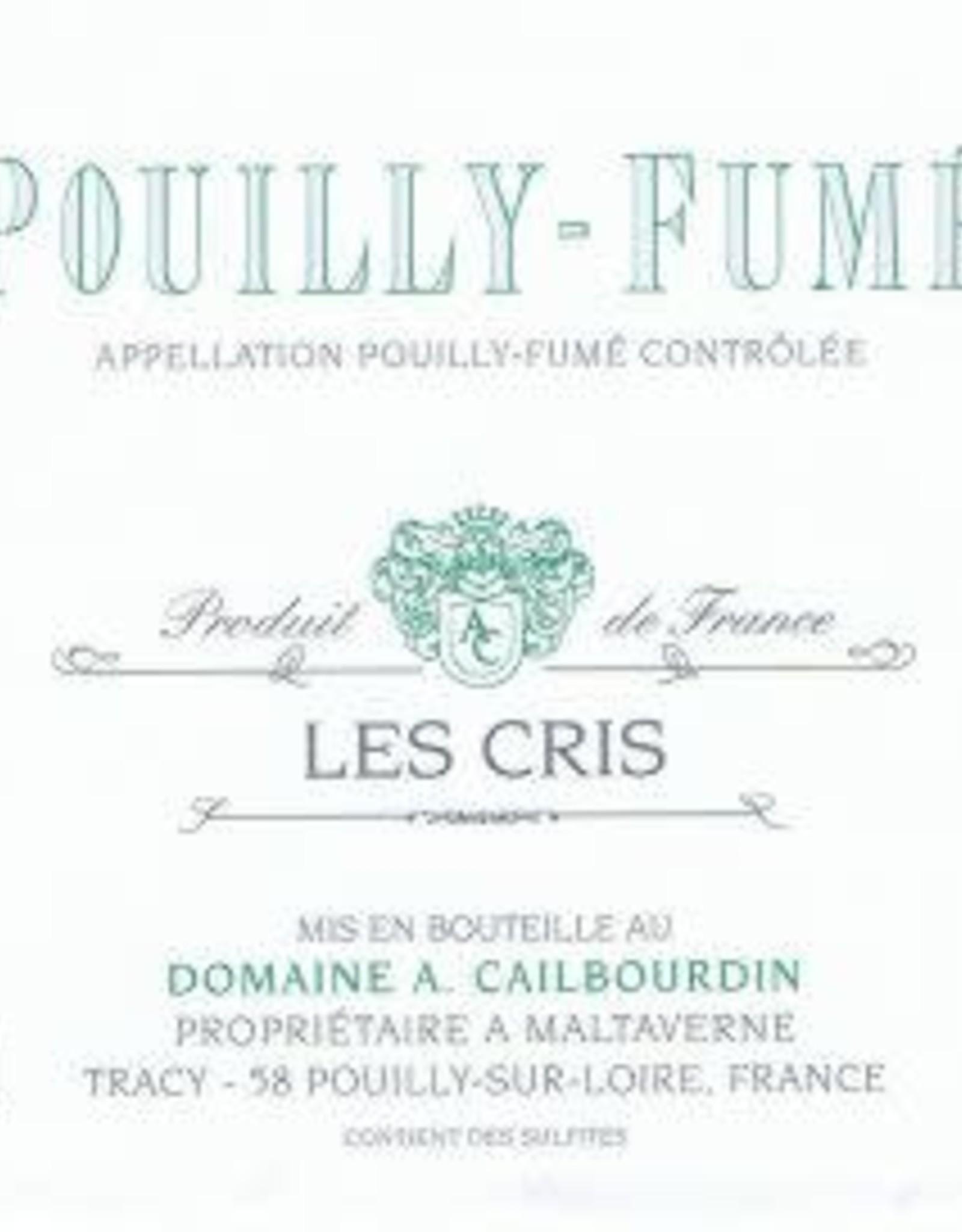 Wine-White Pouilly-Fume, LES CRIS, Alain Cailbourdin 2018 (375 ml)