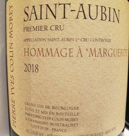 Wine-White W Burgundy, Saint-Aubin 1er, HOMMAGE MARGUERITE, Pierre-Yves Colin-Morey 2018