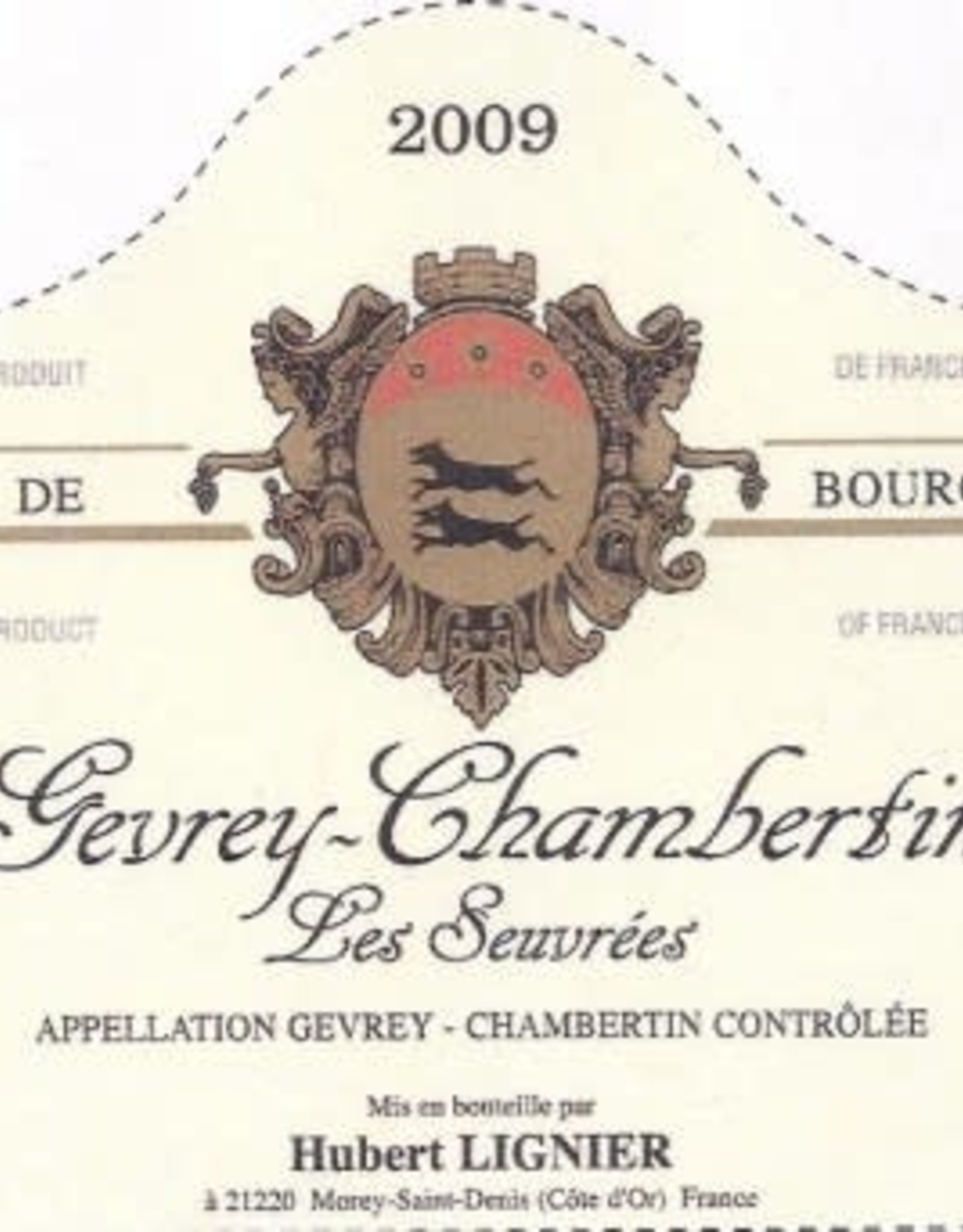 R Burgundy, Gevrey Chambertin, LES SEUVREES, Hubert Lignier 2017