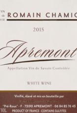 Vin de Savoie, APREMONT, Romain Chamiot 2019