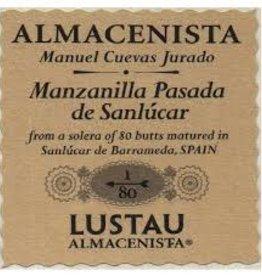 Sherry Almacenista Manzanilla Pasada Sherry, 'Cuevas Jurado 1/80, ' Lustau (500 ML)