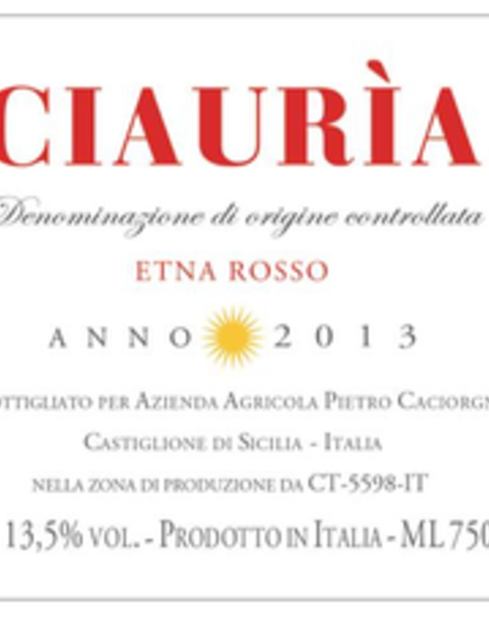 Etna ROSSO, CIAURIA, Pietro Caciorgna 2018