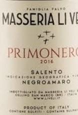 Negroamaro, SALENTO PRIMONERO, Masseria Li Veli 2018